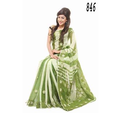 Exclusive Pure Andy Silk Hand Embroidery Saree (CP 846)