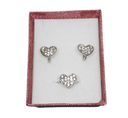 Stone Crafted Ear Top & Finger Ring Set