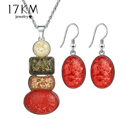Multi Color Stone Necklace - N38