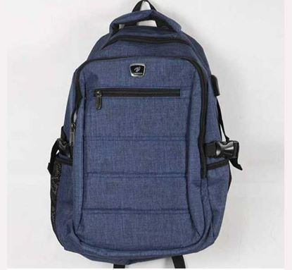 USB Backpack with Charging Port - Blue