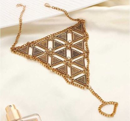 Gold Color Boho Style Triangle Anklet - A14