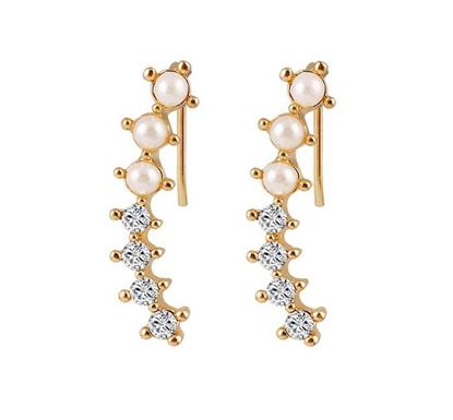 Pearl and Silver Stone Earring – E160