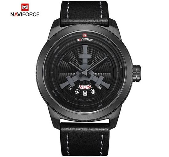 NAVIFORCE Top Luxury Leather Army Military Sports Watch