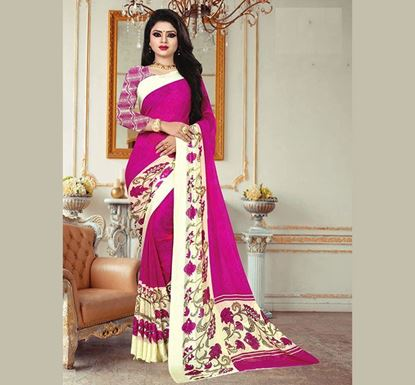 Indian Soft Georgette Saree with Blouse Piece (SS-617)
