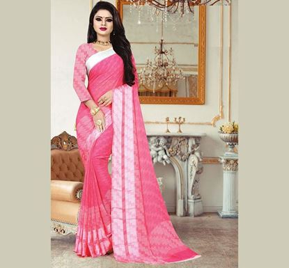 Indian Soft Georgette Saree with Blouse Piece (SS-622)