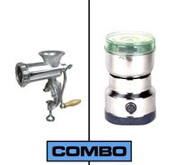 Meat Mincer and Nima Electric Spice Grinder Combo - Silver