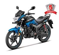 Picture of Hero Hunk Single Disc SDM Matte Black with Tecno Blue 150 CC Motorcycle-863