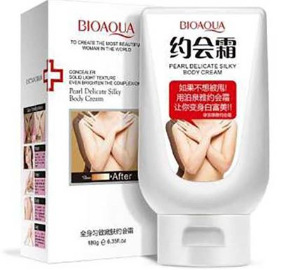 Bioaqua Pearl Delicate Silky Body Cream - 180ml