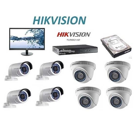 HIKVISION 8 Set HD Camera Full Package With Monitor PSS-008