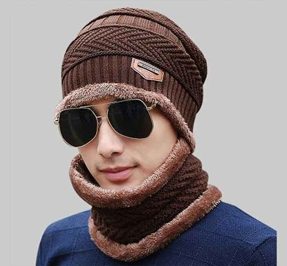 Original Knitted Winter Hat with Neck Warmer - ARB 04