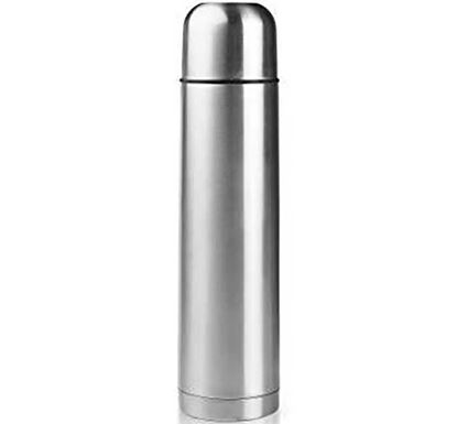 Stainless Steel Hot & Cold Vacuum Bullet Flask - Silver