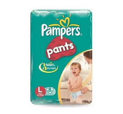 Pampers Baby Dry Pants Diaper L 9-14kg - 8 Pieces