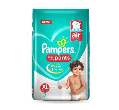 Pampers Baby Dry Pants Diaper XL 12kg Plus - 7 Pieces