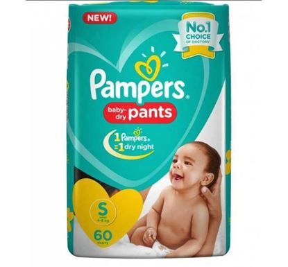Pampers Baby Dry Pants Diaper S  4-8 kg - 60 Pieces
