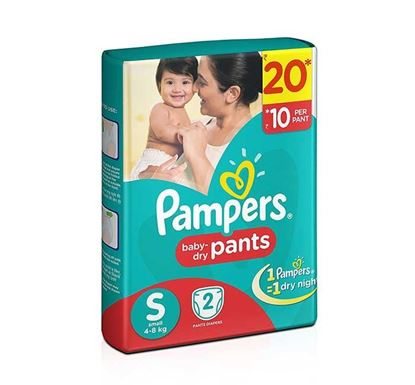Pampers Baby Dry Pants Diaper S 4-8kg - 2 Pieces