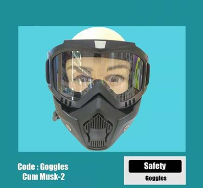 Protective Sheild Goggles with MT-655 Mask (White)