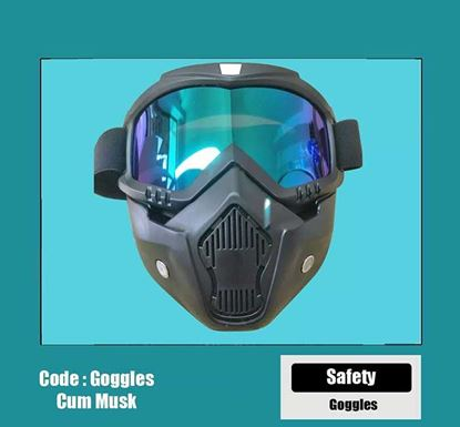 Protective Sheild Goggles with MT-655 Mask (Blue)