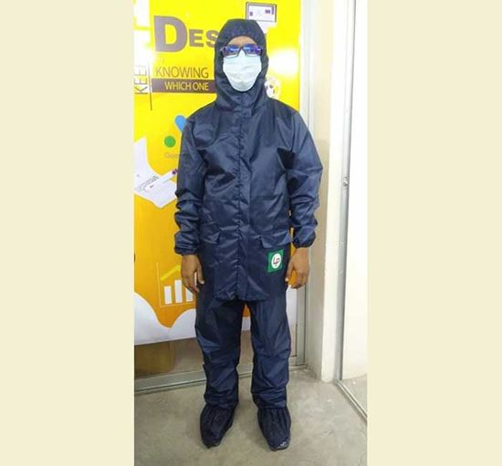 Waterproof Full Body PPE with Shoe Cover (Jacket & Trouser)