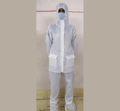 Waterproof Full Body PPE with Shoe Cover (Jacket & Trouser - White)
