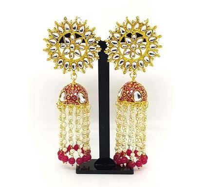 Gold Plated Long Jhumka Earring TR-1332