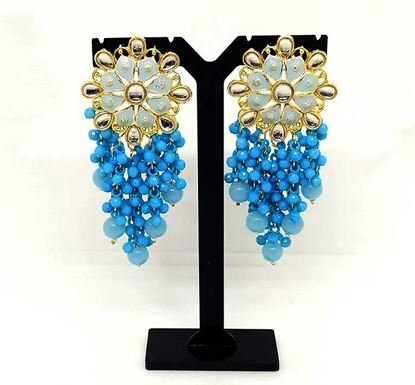 Gold Plated Meena Earring Tr-1340