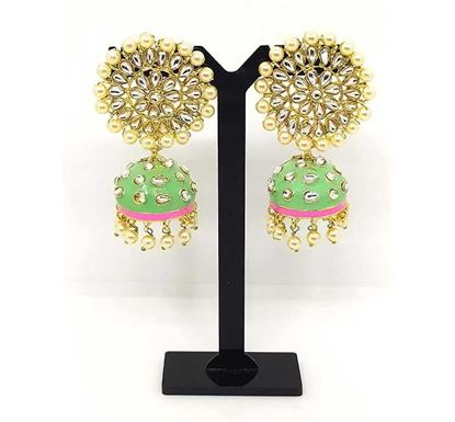 Gold Plated Jhumka Earring Tr-1342