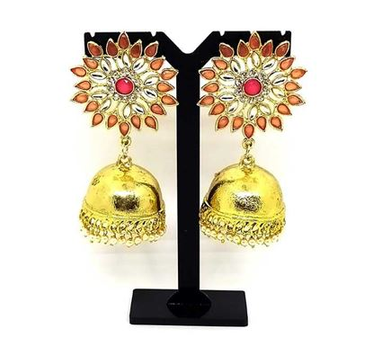 Gold Plated Jhumka Earring Tr-1343