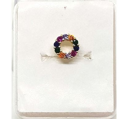 Gold Plated Stone Setting Nose Pin TR-1364