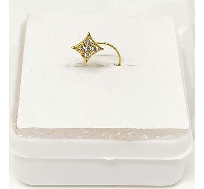 Gold Plated Stone Setting Nose Pin TR-1366