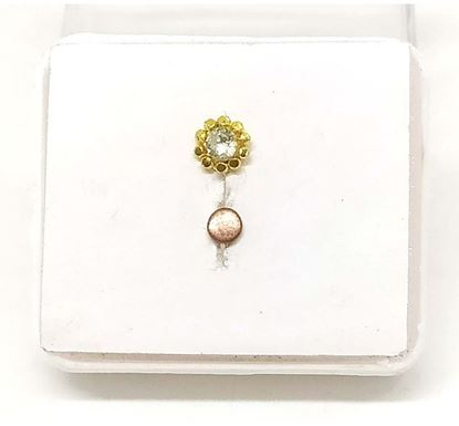 Gold Plated Stone Setting Nose Pin TR-1378