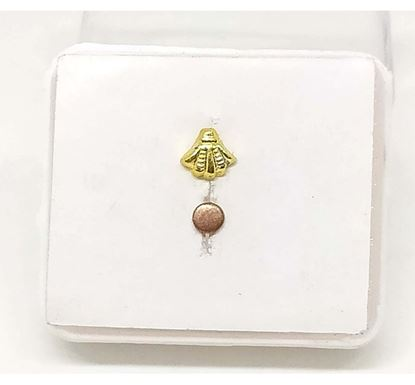 Gold Plated Flower Design Nose Pin TR-1387