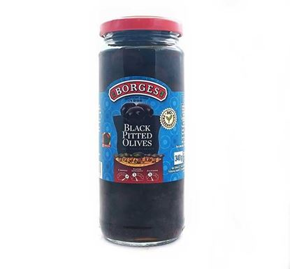 Borges Black Pitted Olives 340gm