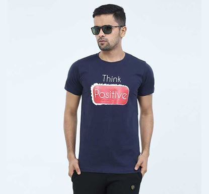 Round Neck Half Sleeve T-shirt for Men - EXTS11