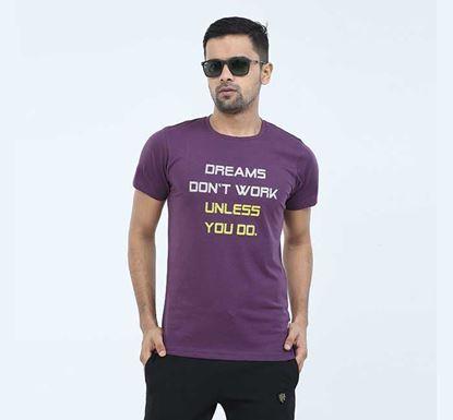 Round Neck Half Sleeve T-shirt for Men - EXTS12