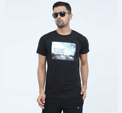 Round Neck Half Sleeve T-shirt for Men - EXTS13