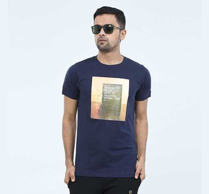 Round Neck Half Sleeve T-shirt for Men - EXTS15