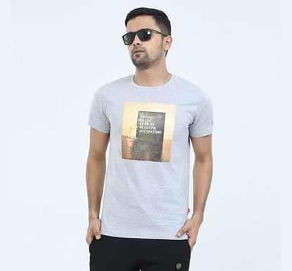 Round Neck Half Sleeve T-shirt for Men - EXTS18