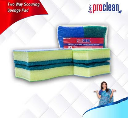 Proclean Two Way Scouring Sponge Pad 6 Pieces Pack - SSP-9944-6