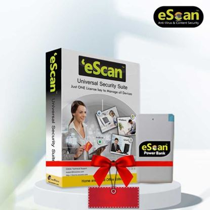 eScan Universal Security (Multi-device License) for Single User (Free Power Bank)