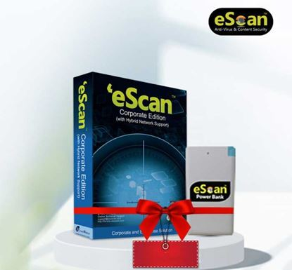 eScan Corporate Edition (with Hybrid Network Support) for Single User (Free Power Bank)