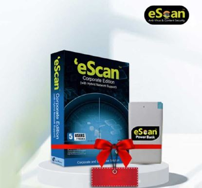 eScan Corporate Edition (with Hybrid Network Support) for Five User (Free Power Bank)