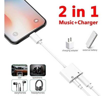 Audio Jack & Charge Converter for iPhone