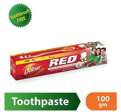 Dabur Red Toothpaste 100g with Free Toothbrush
