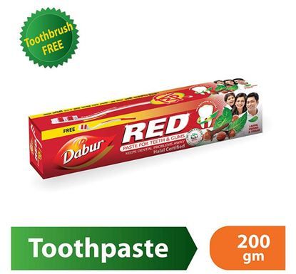 Dabur Red Toothpaste 200g with Free Toothbrush