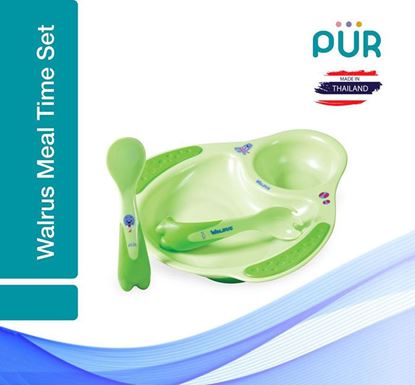 Pur Walrus Meal time set – Plate & Cutlery – (5501)