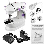 Dual Speed Portable Mini Electric Pedal Double Threads Rewind Sewing Machine