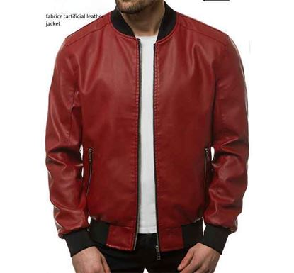 Artificial Leather Jacket for Men - 04