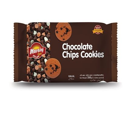 Well Food Morning Fresh Chocolate Chips Cookies - 250gm