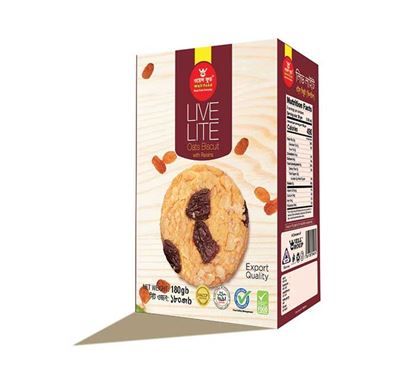 Well Food Live Lite Oats Biscuit - 180gm