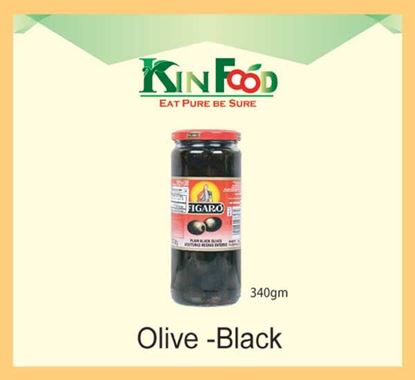 Figaro Olive Jar 340 gm – Black
